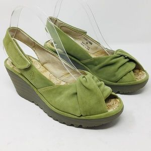 Fly London Sling back Wedge 39 suede